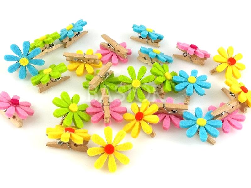 kwiatki z klipsem