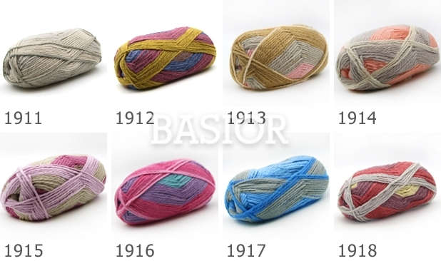 Włóczka Melange Wool Prints wzornik