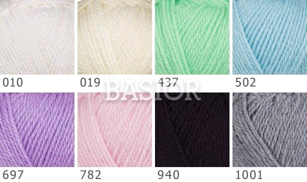 Włóczka Woolly Baby wzory kolorów